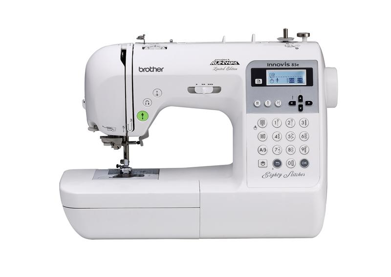 Brother NS85E  * 80 built-in stitches  * light weight and portable  * needle threading system  * speed control  * built-in storage