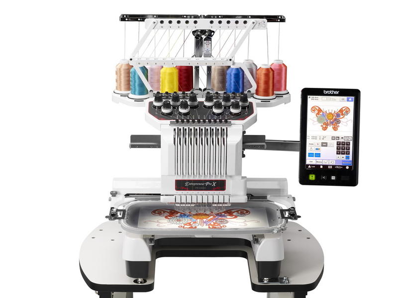 Brother entrepreneur PRO x PR1050X  * 699 built-in designs  * automatic needle threading system  * LED lighting  * innoveye technology now for cap and cylinder frame  * high speed background scanning ( 5 x's faster )  * My design center for more creativity  * 10 needles