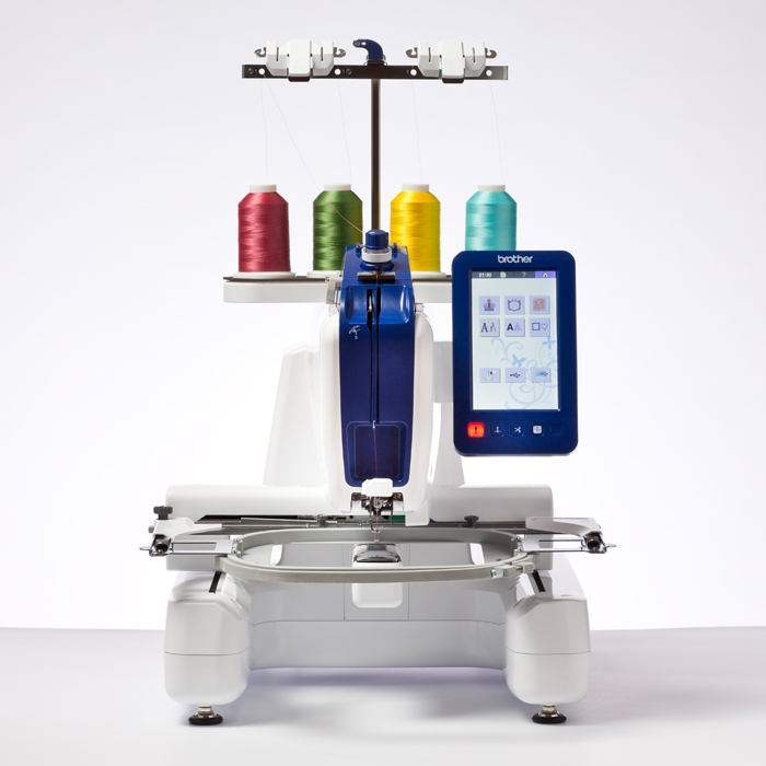 Brother Persona PRS100  * 1 needle  * 4 spool thread holder  * 405 built-in designs  * adjustable screen brightness  * needle threading system  * realistic preview