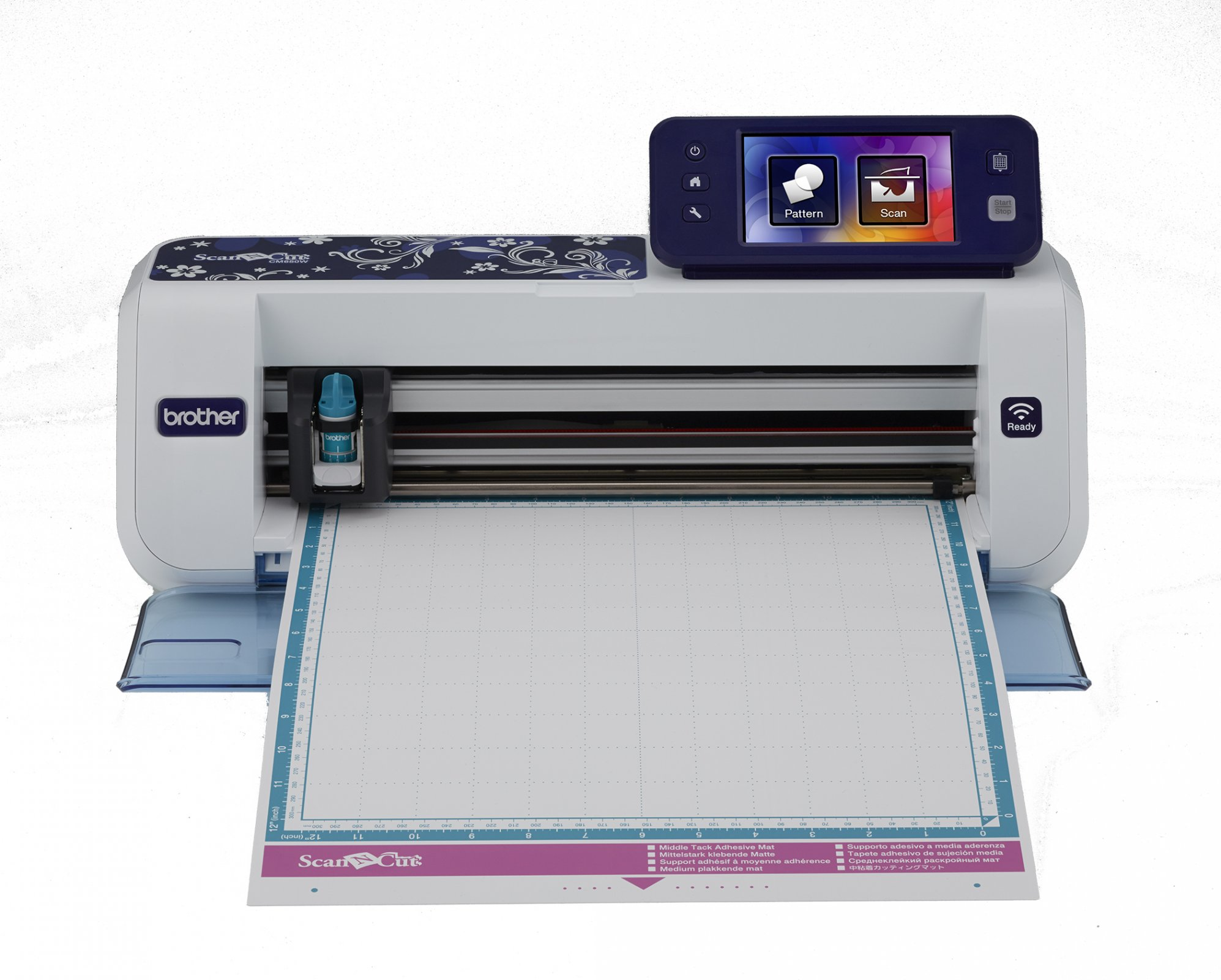 Brother Scan N' cut 2  * 1,102 built-in designs  * 140 applique' designs  * Back ground scan  * scan to cut  * direct cut  * on screen editing and lots more