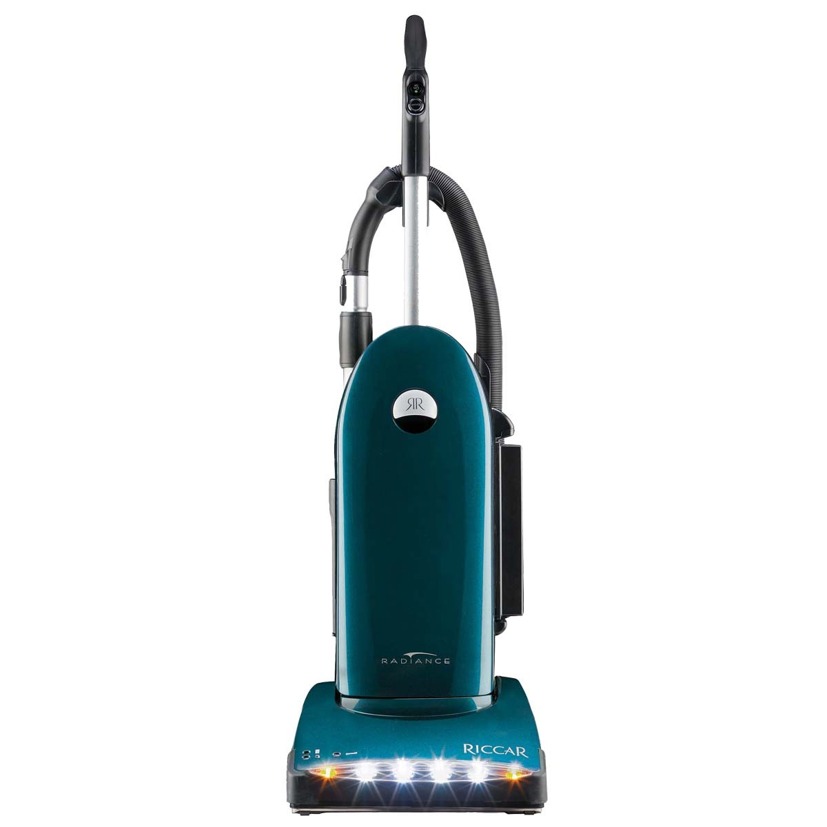 Riccar Radiance R40P  * 22.5 lbs  * Metallic dark teal  * onboard tools  * 40ft cord  * 8 year warranty  * 3 rows of replaceable brush strips