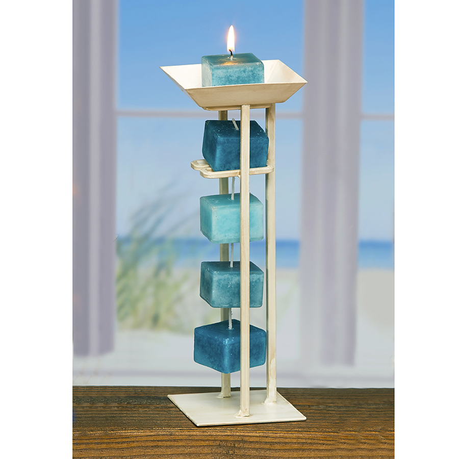 Tower candle on a rope holder