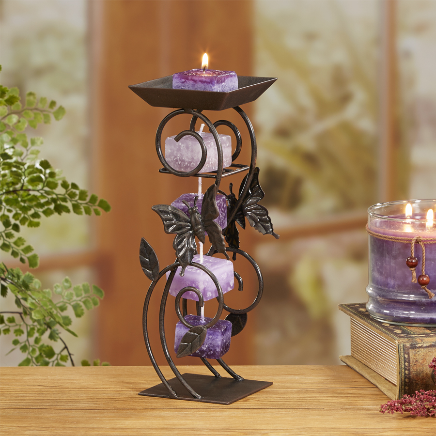 butterfly tower candle rope holder