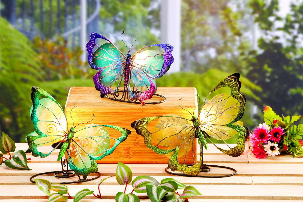 small butterfly tea light holder
