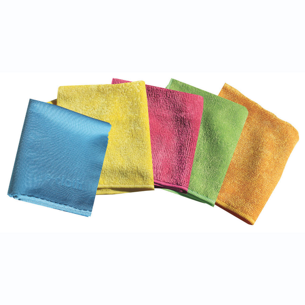 Starter 5 Pack  4 general Purpose Cloths  1 glass Glass & Polishing  Good for all hard surfaces such as stainless steel, enamel, ceramic, granite, marble, slate, quartz, tile & wood