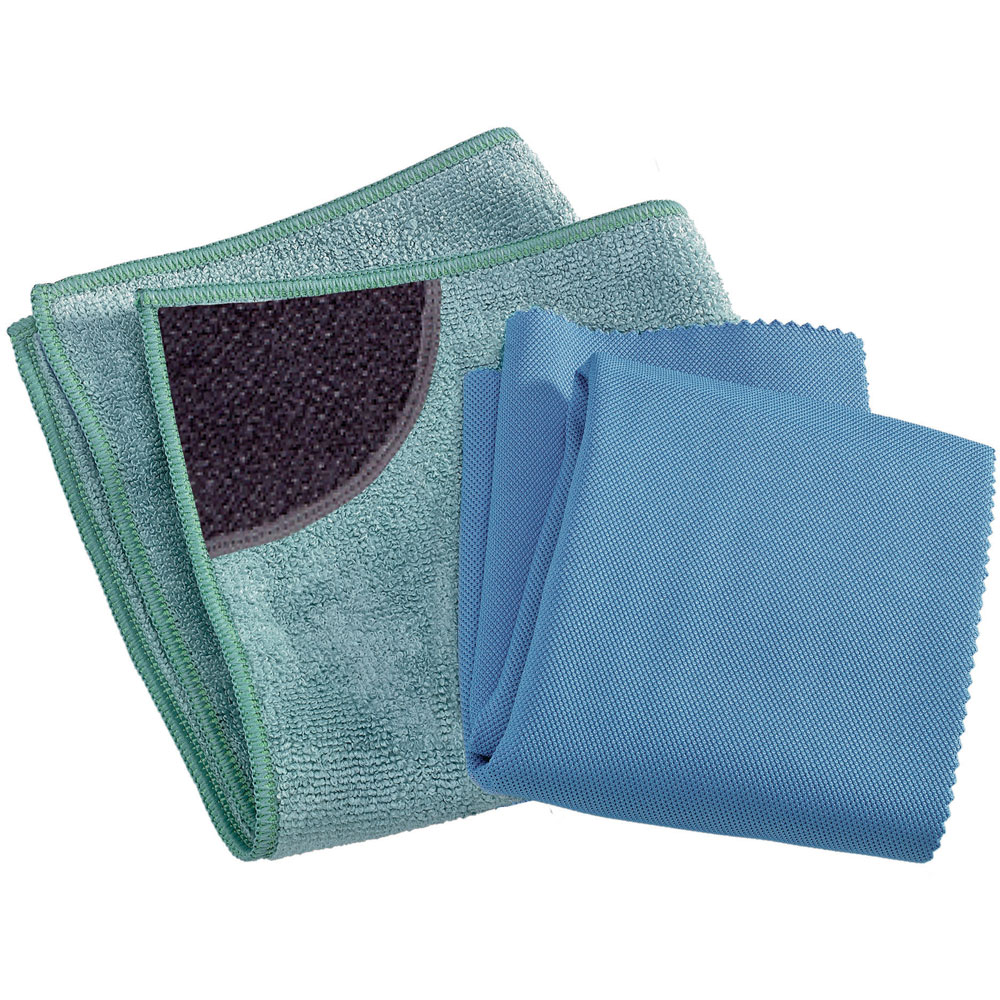 Kitchen Cleaning 2 pk  1 kitchen cloth  1 glass & polishing cloth