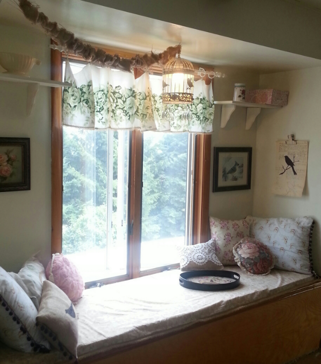 The window seat...