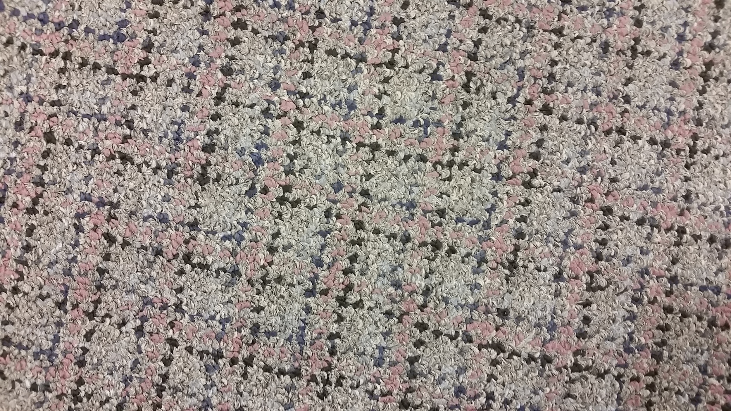 And then there's this commercial carpet.  I had to stare at it for awhile before I could make it say boutique, but once it came to me, I took color cues from the pattern.