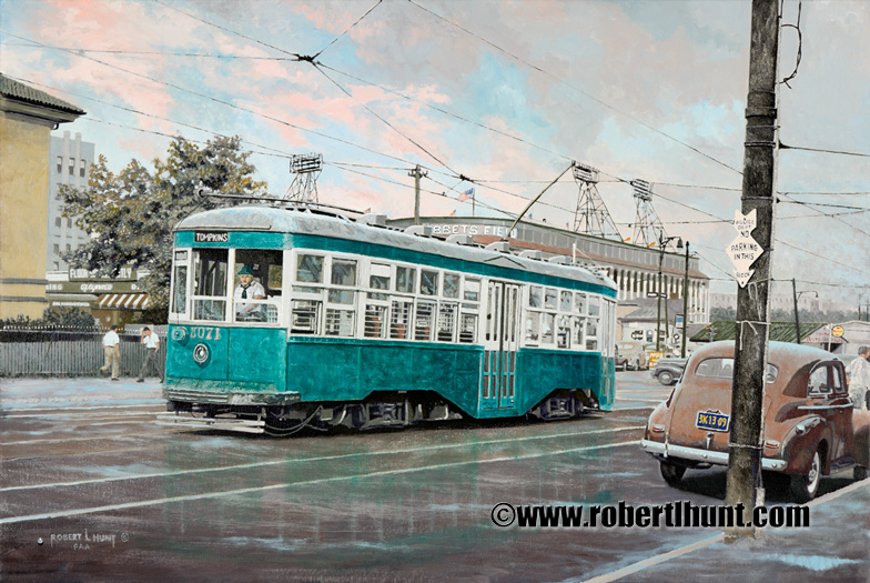 Brooklyn Trolley at Ebbets Field