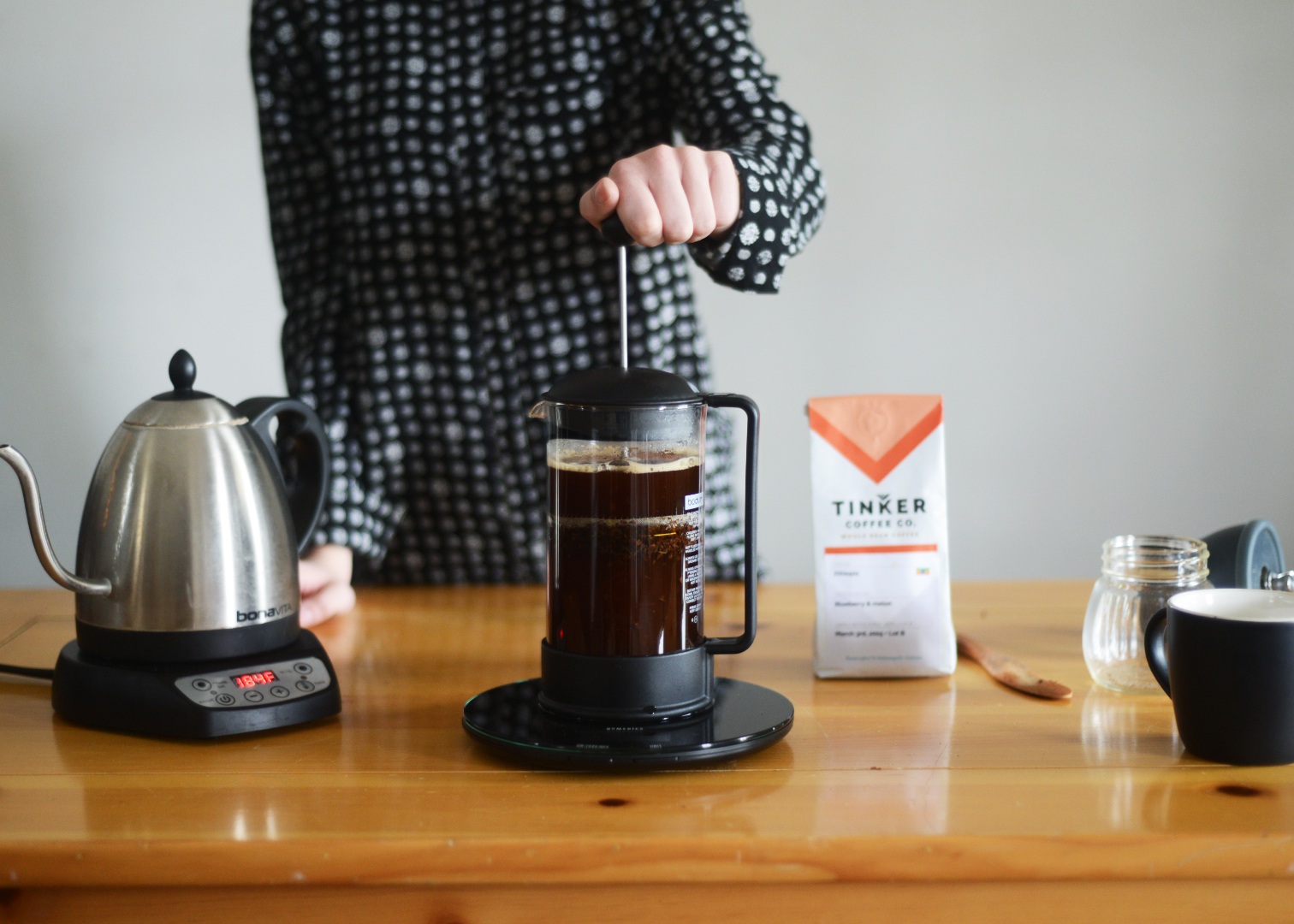 french press plunge
