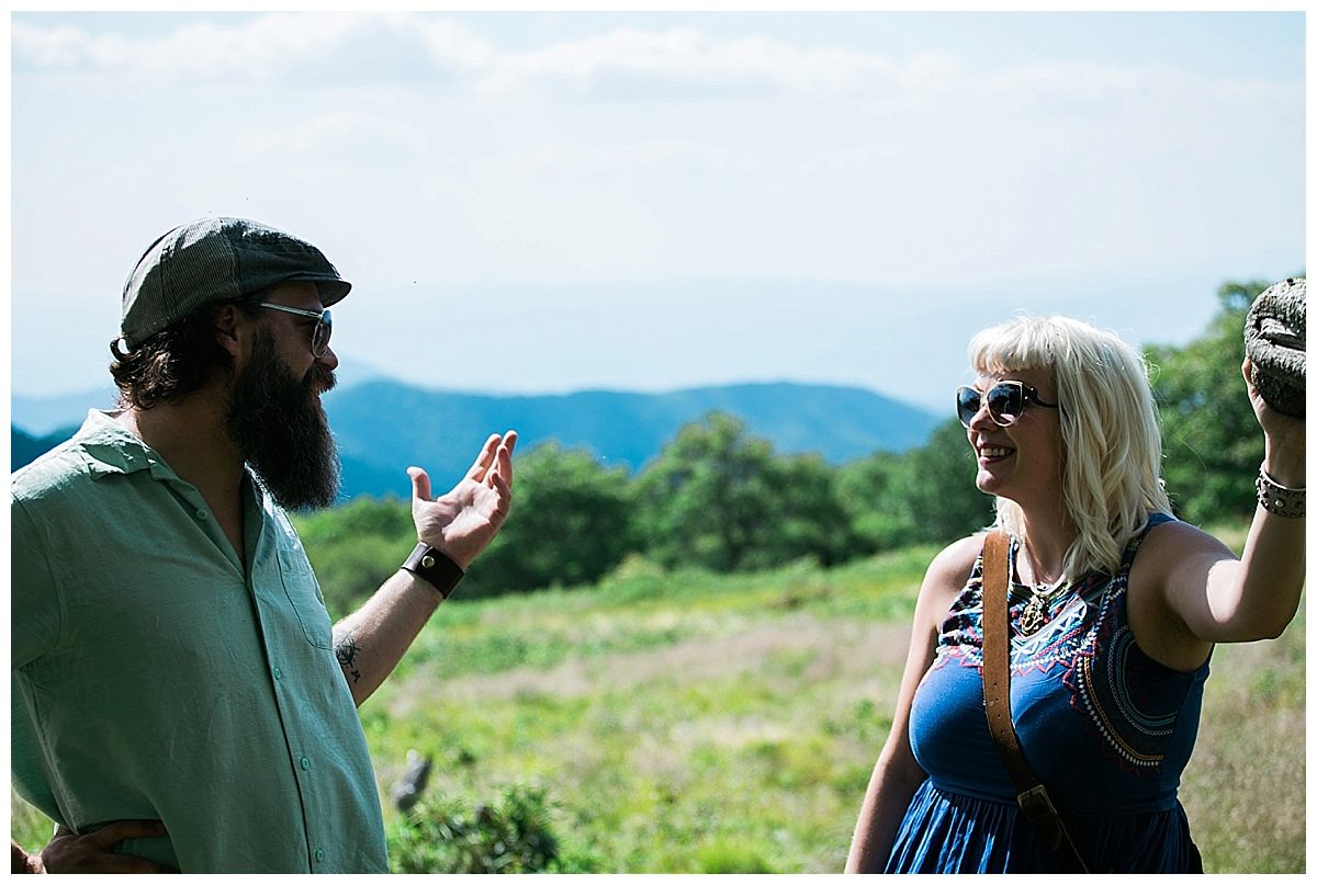 asheville photojournalistic engagement pictures
