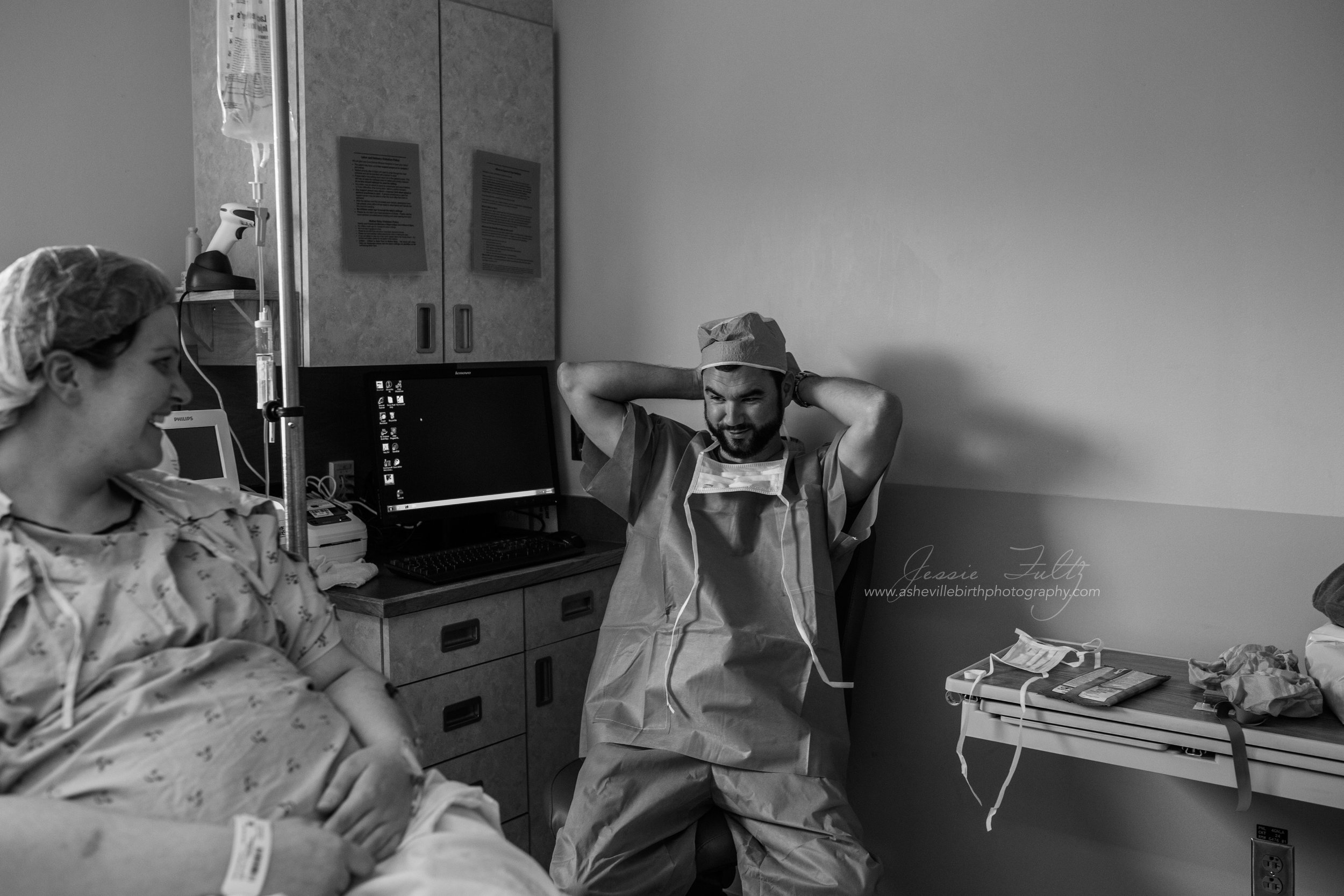 Asheville c-section photography