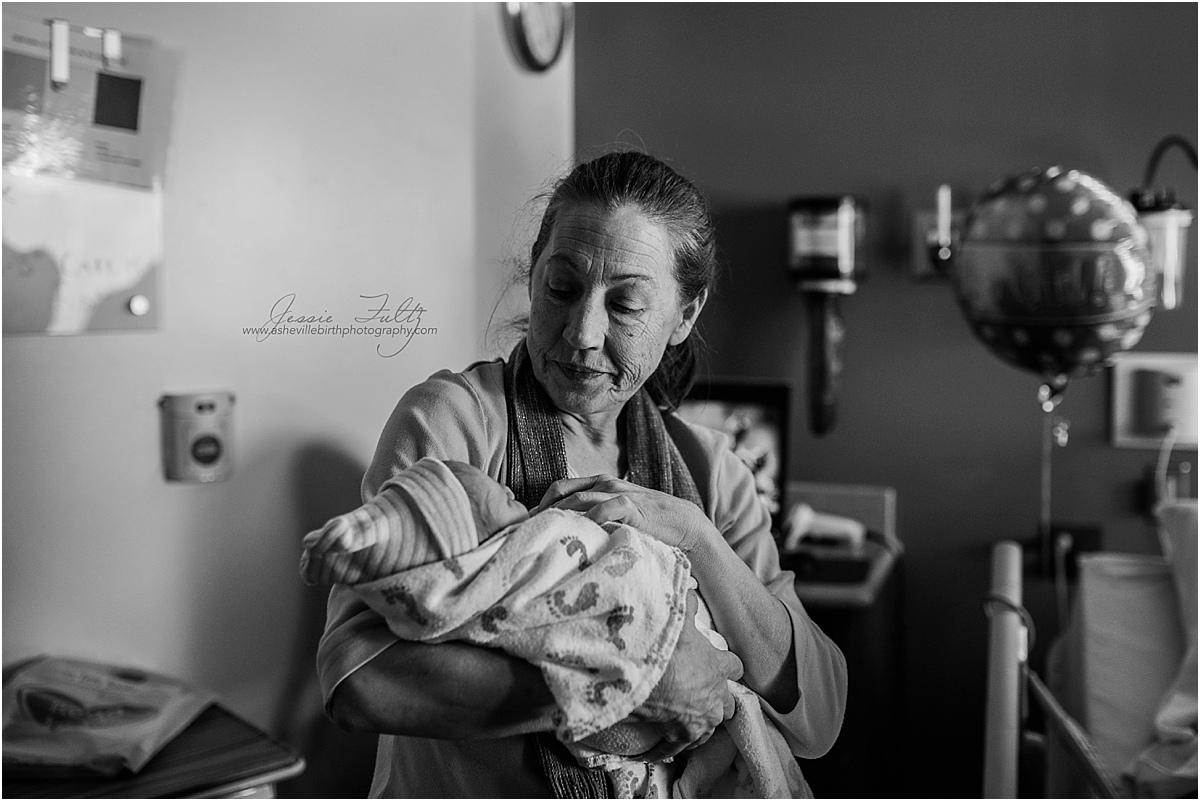 Hendersonville NC birth photography
