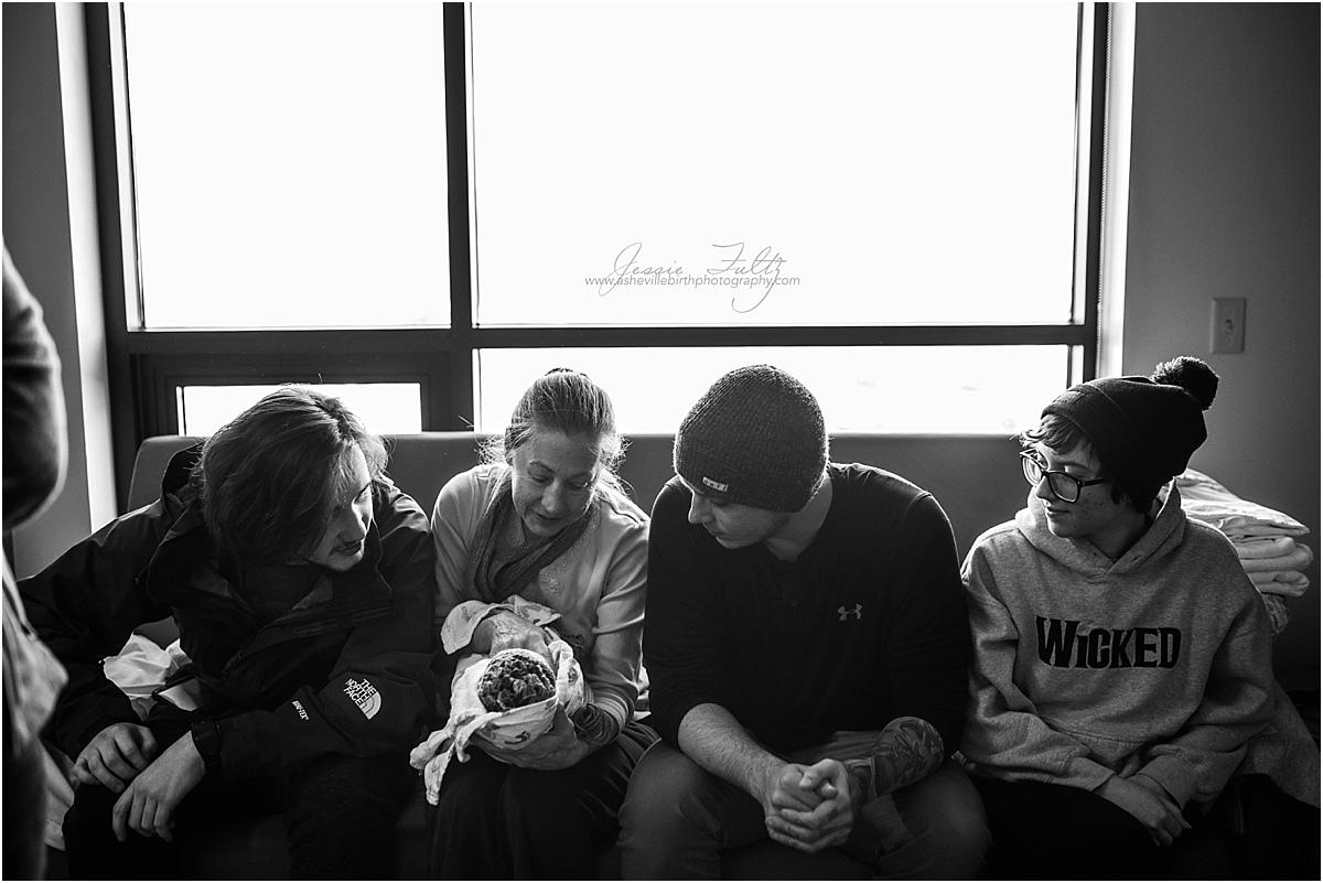 Asheville NC birth photography