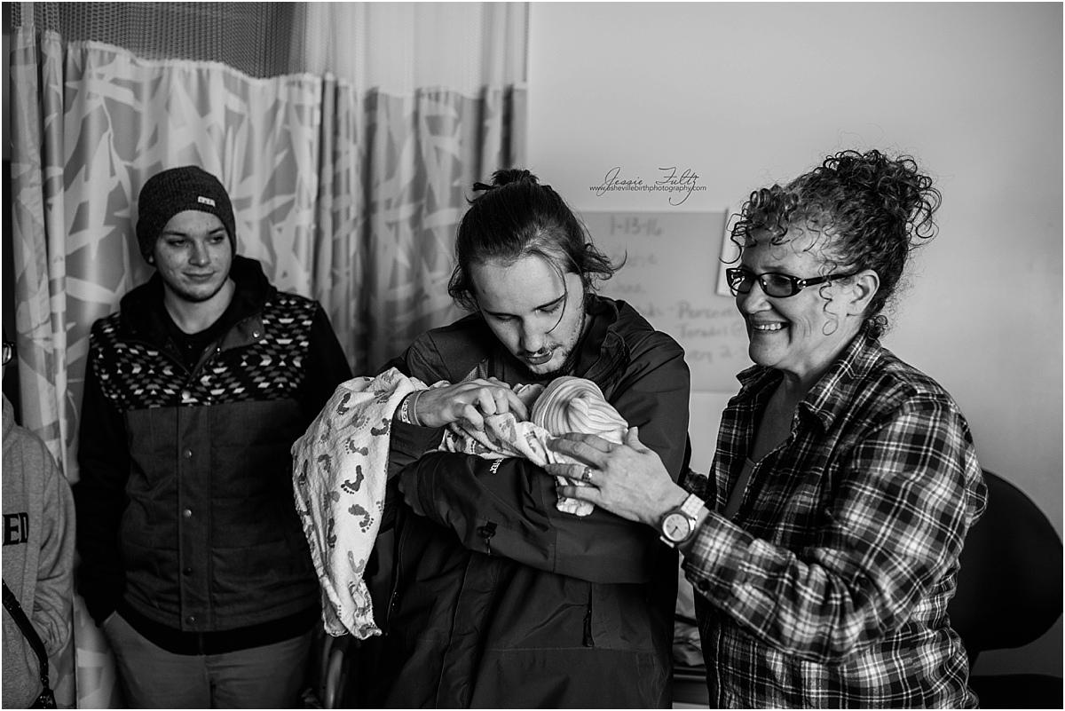 Park Ridge hospital birth photography