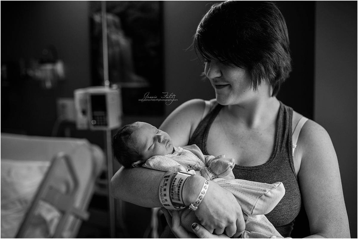 Asheville newborn hospital photography