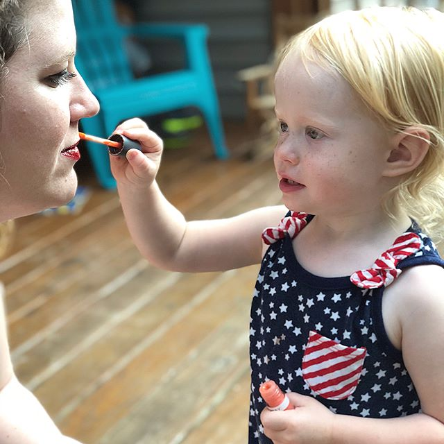 She also wanted me to wear some. 😂💄💋#HaddieG #lipgloss