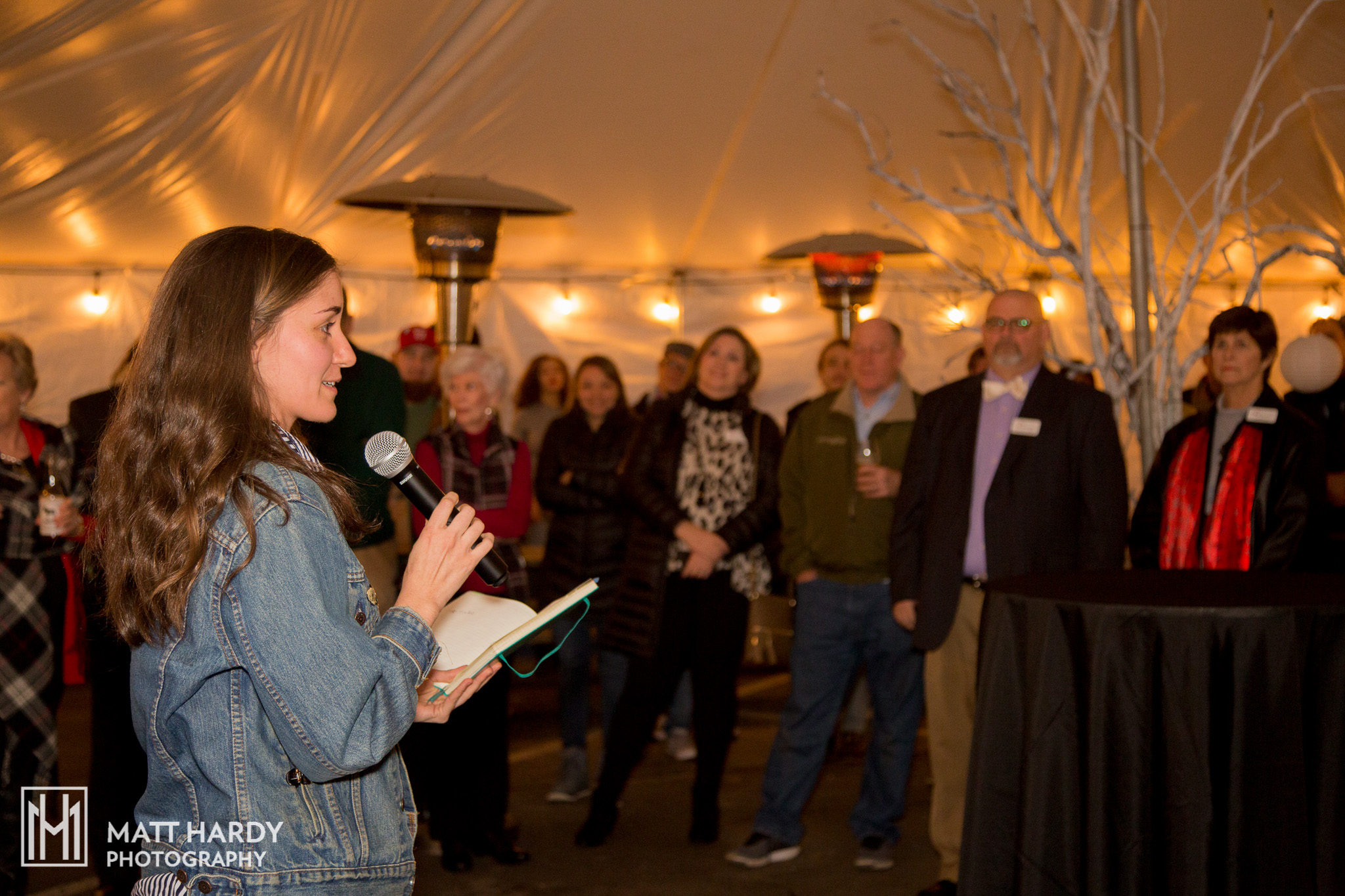 Madeline Bates, our Get Artistic lead, thanks the local community for their support of Get Artistic this year. Photo by Matt Hardy Photography.