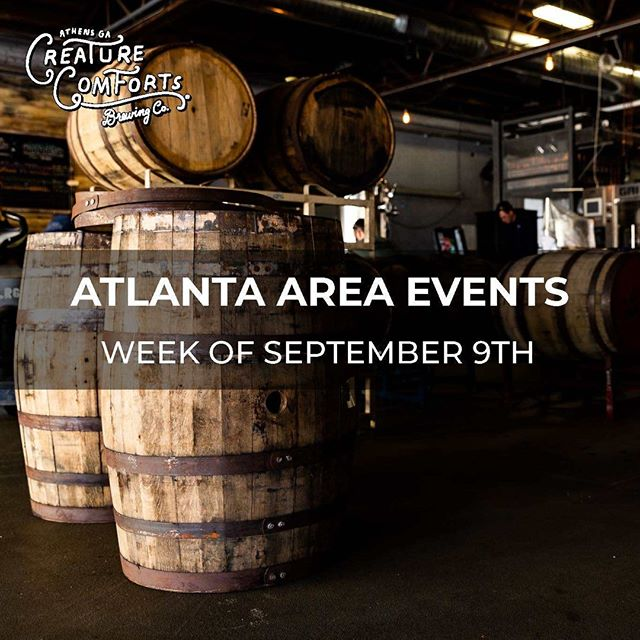 Be sure to join us for this week's events taking place in Atlanta! -September 9-15: @taqueriadelsol is partnering with @foxbrosbarbq for a fundraiser for @hogsforthecause. The special taco for the week of September 9 - 15 will be the Hogs Taco and paired with Classic City Lager! A portion of the sales from the taco will go to Hogs for a Cause which goes to @childrensatl. -September 10: Grilled Cheese Off @BrickStorePub -September 15: The Southern Chef's Potluck, a Sunday supper celebrating the 10th anniversary of  @wholesomewavega at The Foundry at Puritan Mill from 5:30-8PM. -Month of September: Creature Comforts is the brewery of the month @oldfountaintavern featuring Classic City Lager, Tropicália, Reclaimed Rye, Athena Paradiso with passion fruit & guava, Duende and more.