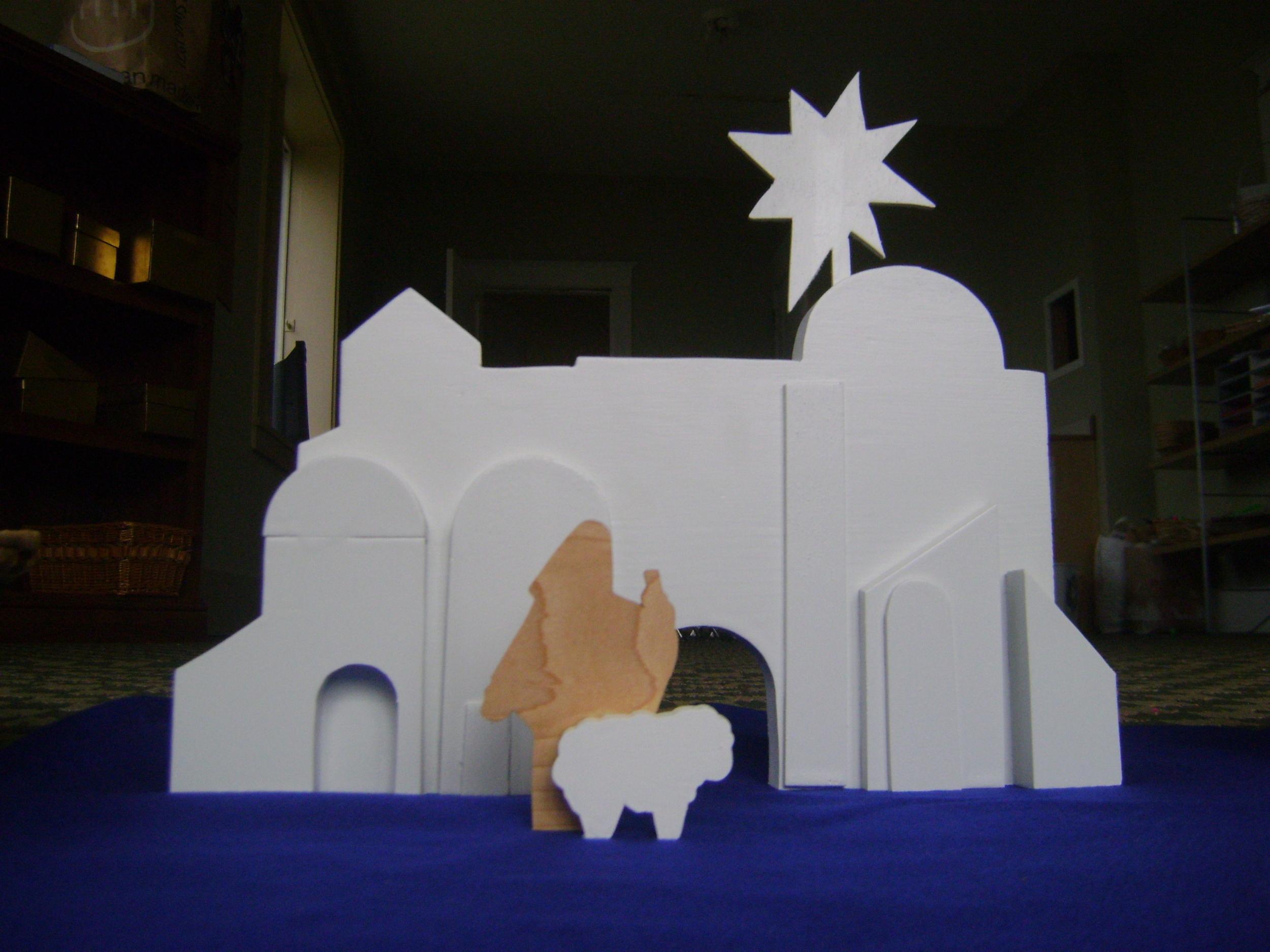 GP White Bethlehem with shepherd