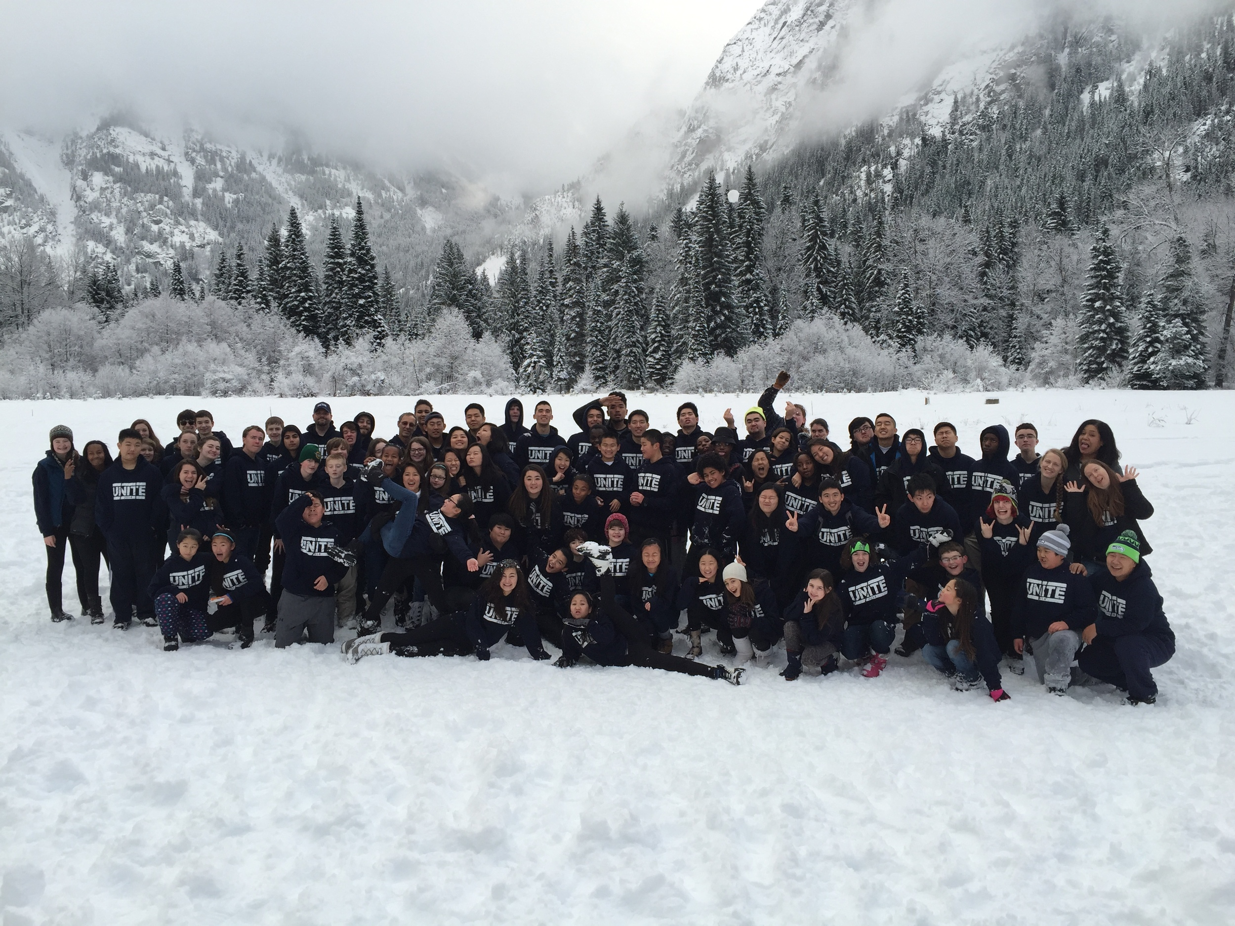 2014 UNITE! Youth Winter Retreat with Presbyterian youth from all over the South Sound