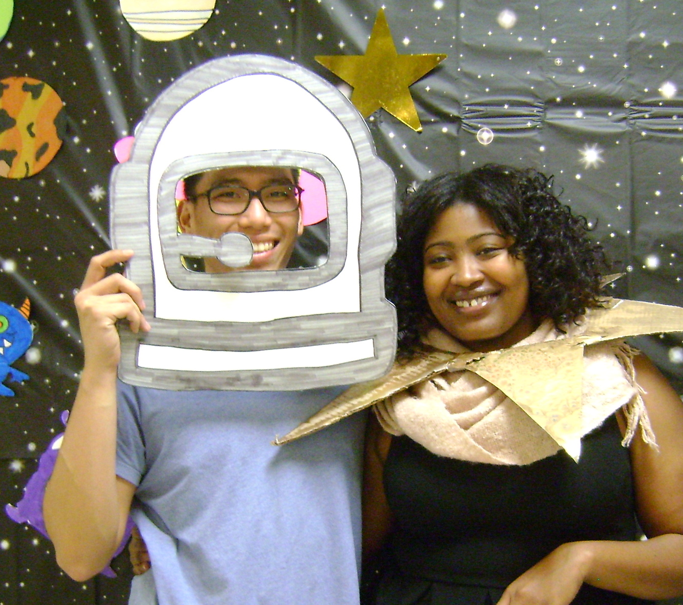 Jaquette with AmeriCorps staff member, Kyle Lee