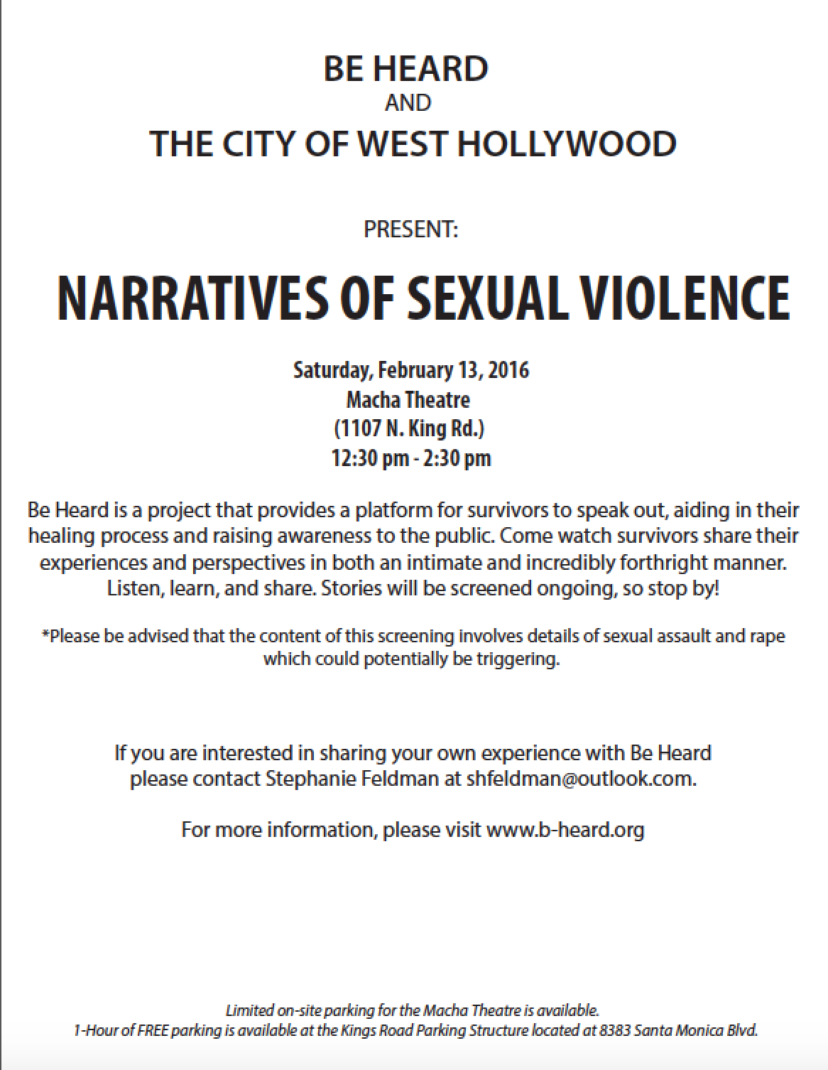 City of West Hollywood Screening