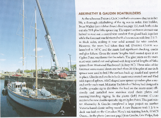 Western mariner publication - Schooner Passing Cloud