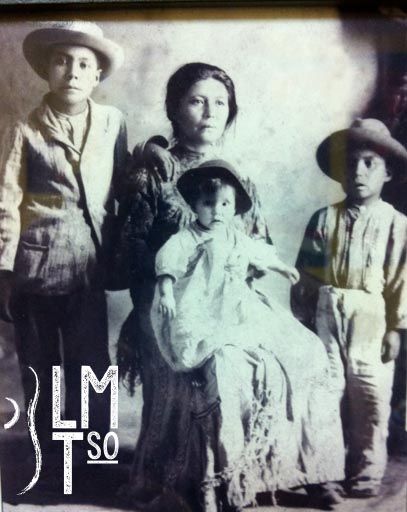 Juan, Vidal, Pánfilo Barrientos Hernández with mother Alejandra Hernández