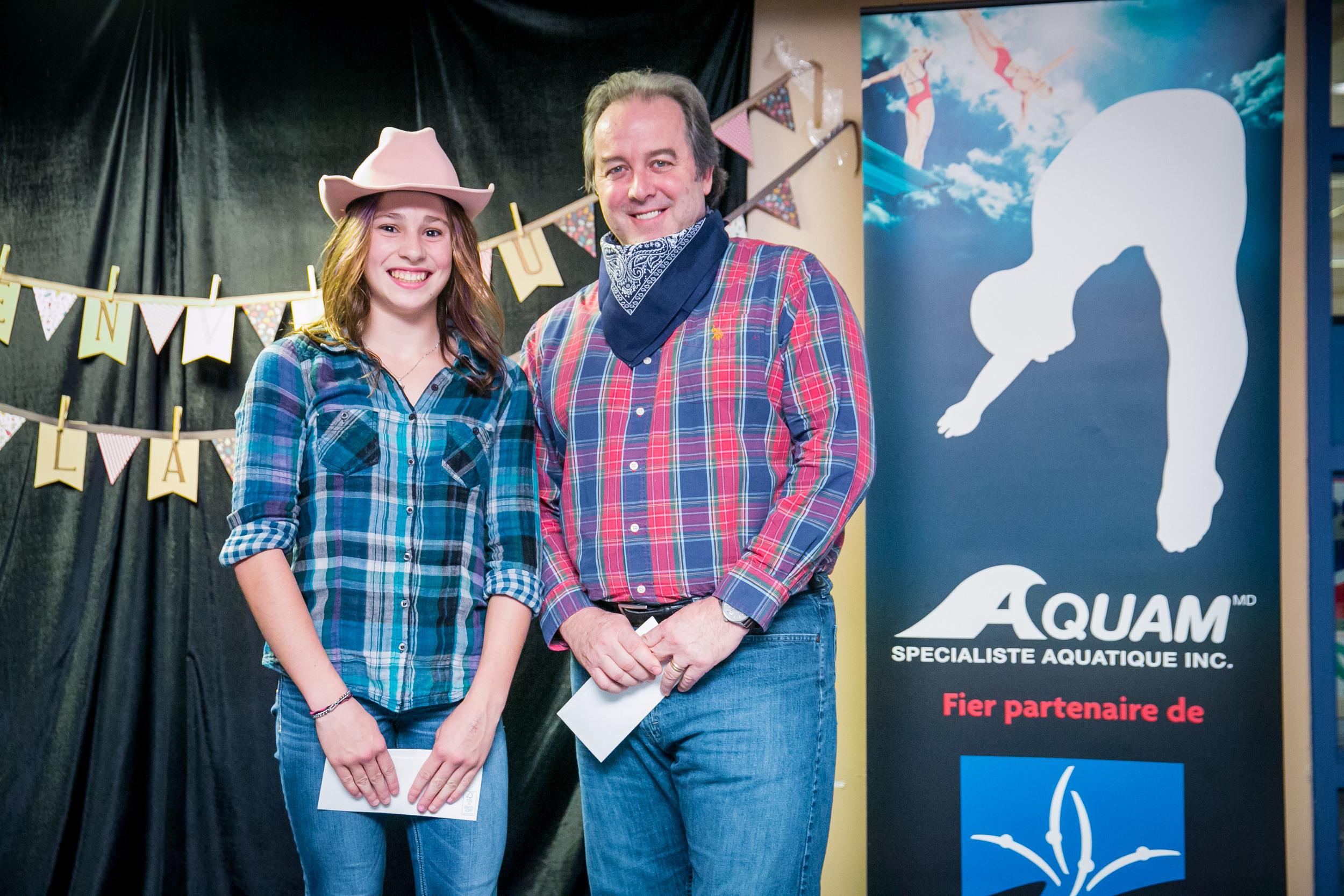 Mia Doucet-Vallée et Alain Chalifoux d'Aquam.