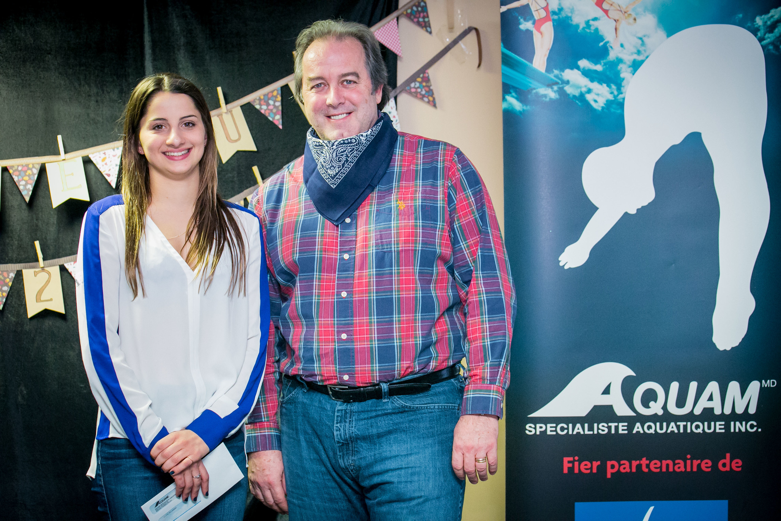 Éloïse Bélanger et Alain Chalifoux d'Aquam.