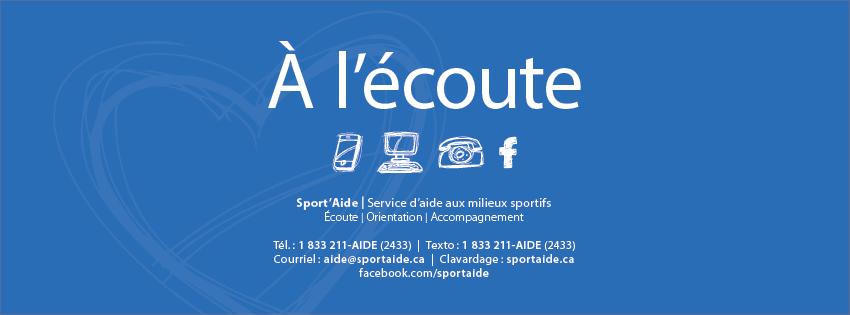 Plongeon Québec invite tous ses membres qui auraient besoin de support à communiquer avec le programme Sport Aide. Un programme confidentiel pour le milieu sportif.