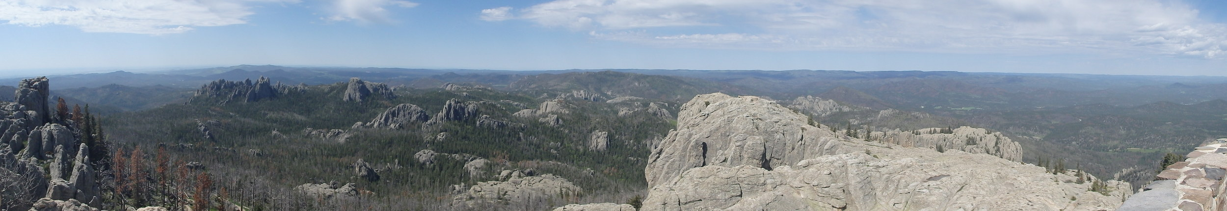 The panoramic shot from Harney Peak