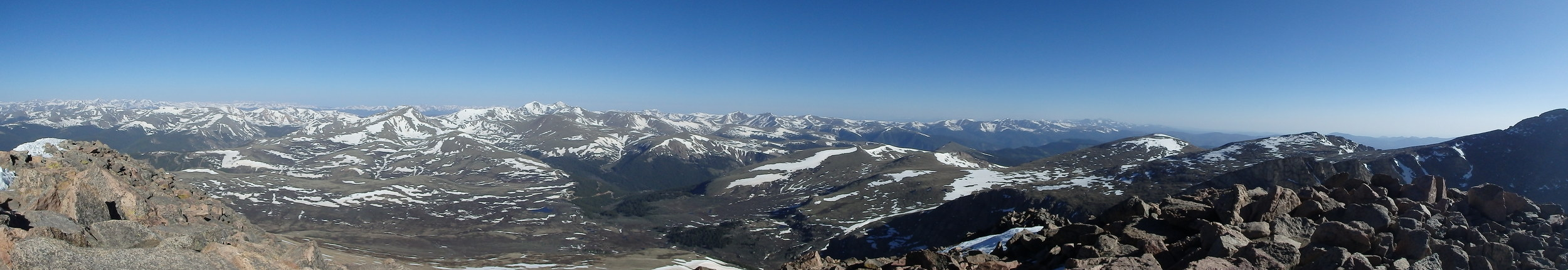 Panoramic from the Summit of Mt. Bierstadt. 14,060 ft.