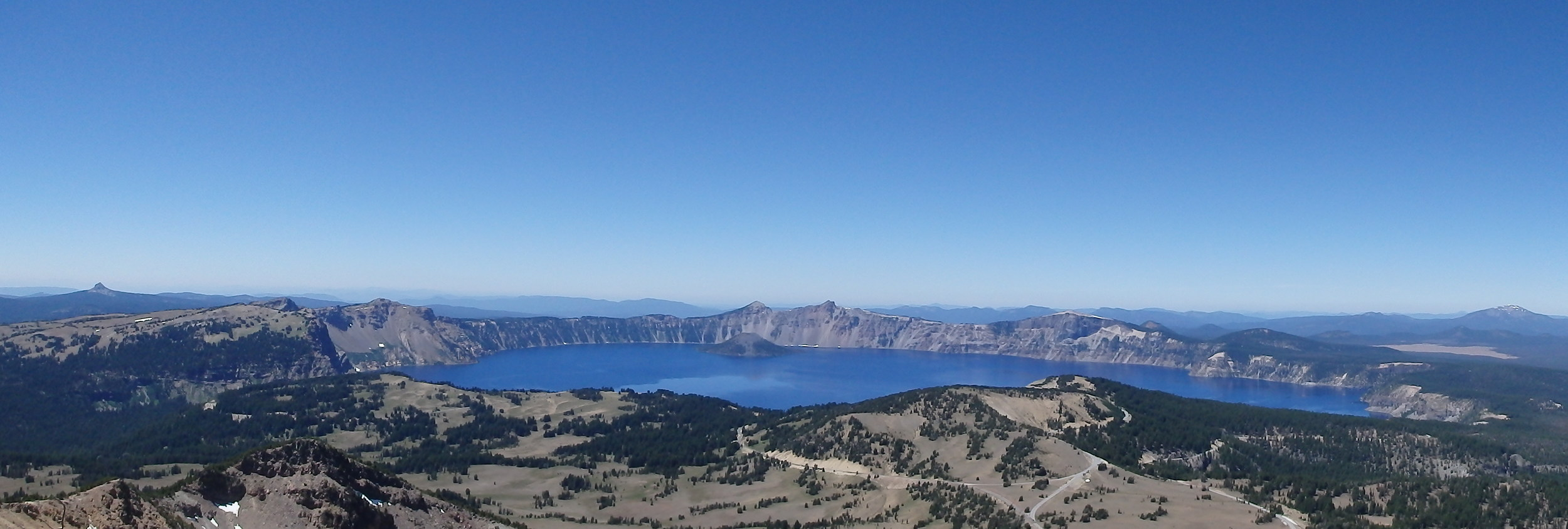 Crater Lake from the top of Mount Scott