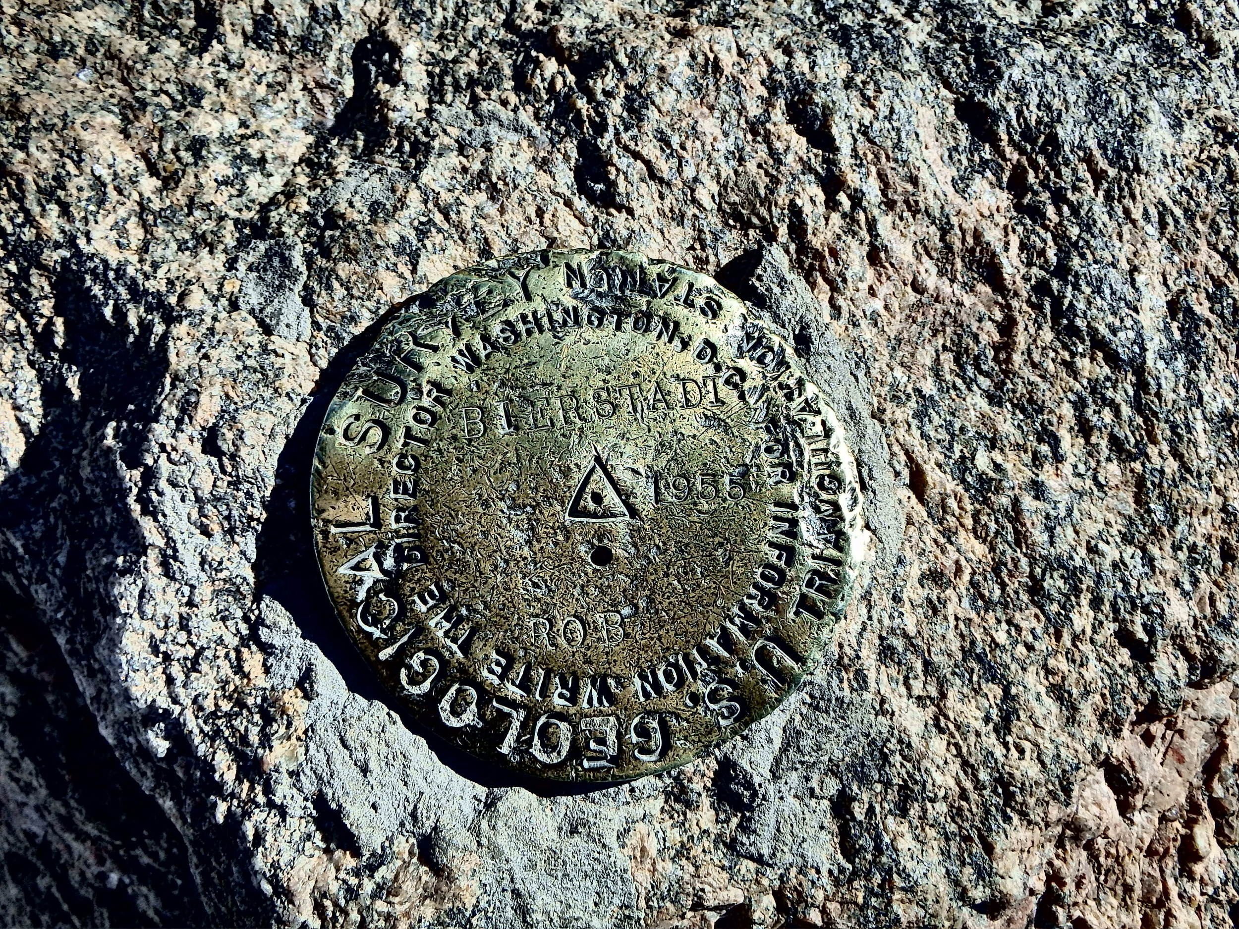 Geological Marker on top of Mt. Bierstadt