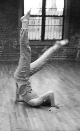 Tori in Modern Technique and Improv class.