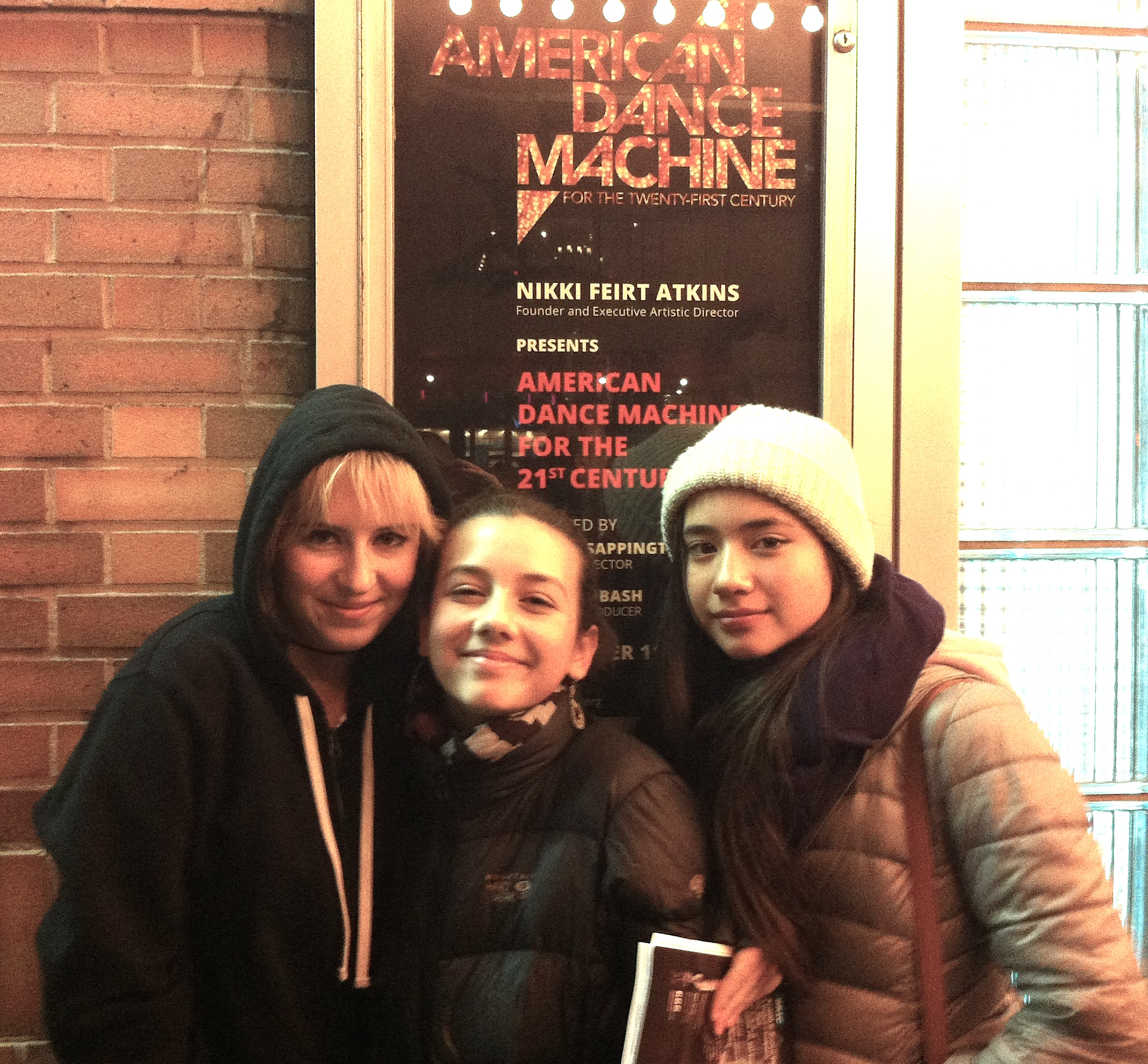 Ava with fellow e.g.dance students at American Dance Machine at The Joyce Theater - Fall 2014.