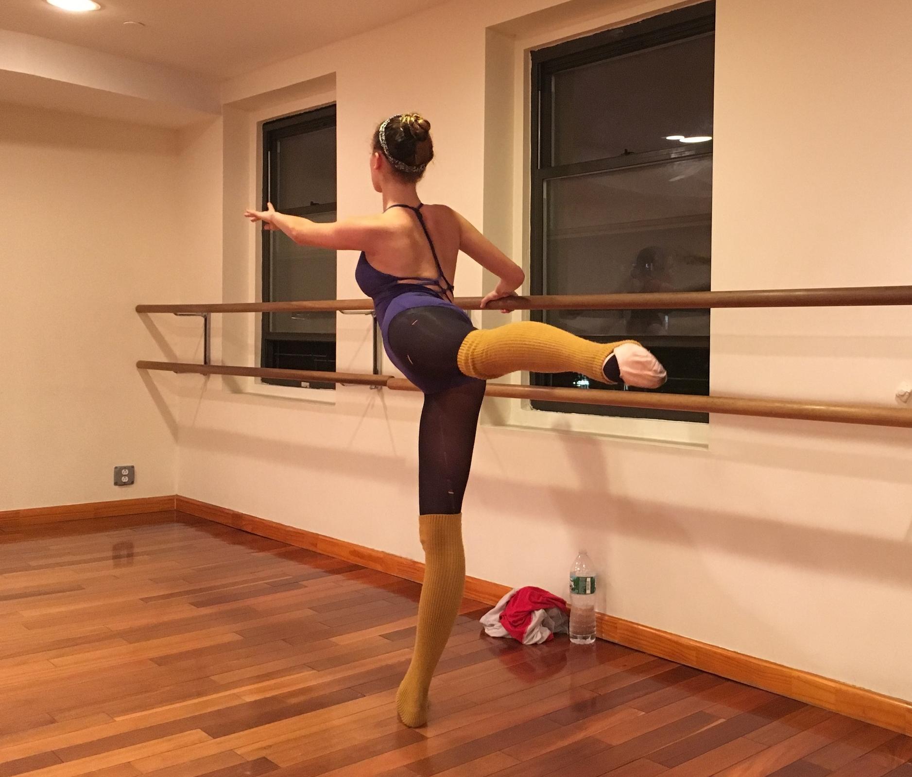 Emma in Ballet Class in December 2015