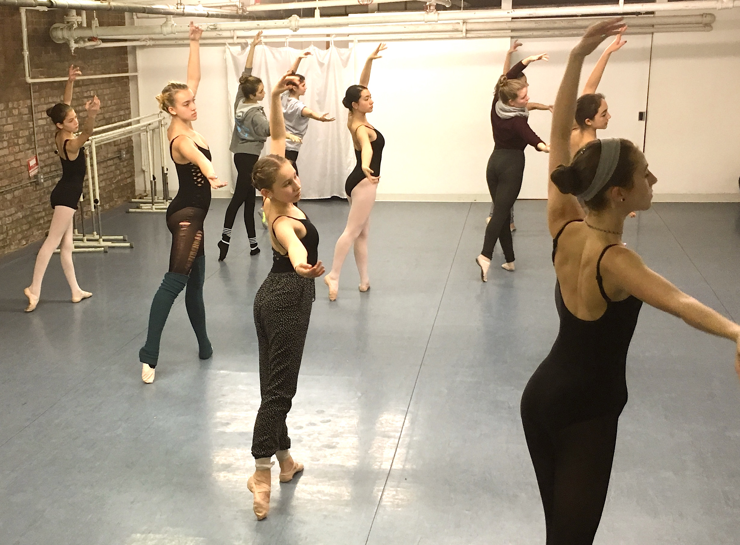 Pazit in Saturday morning ballet class in 2016