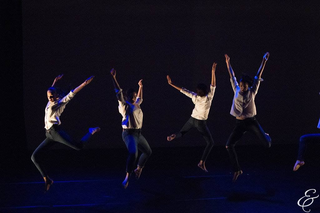 Aggie (second from left) in performance with Creative Arts Studio Dance Company in e.g.dance's Annual Performance May 2016 (photo by Ebbe Sweet)