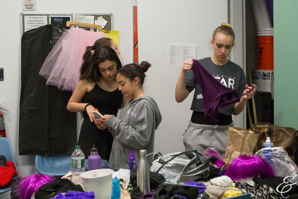 Chloe backstage preparing for performance at The Actors Fund Arts Center in June 2018. Photo by Ebbe Sweet Photography