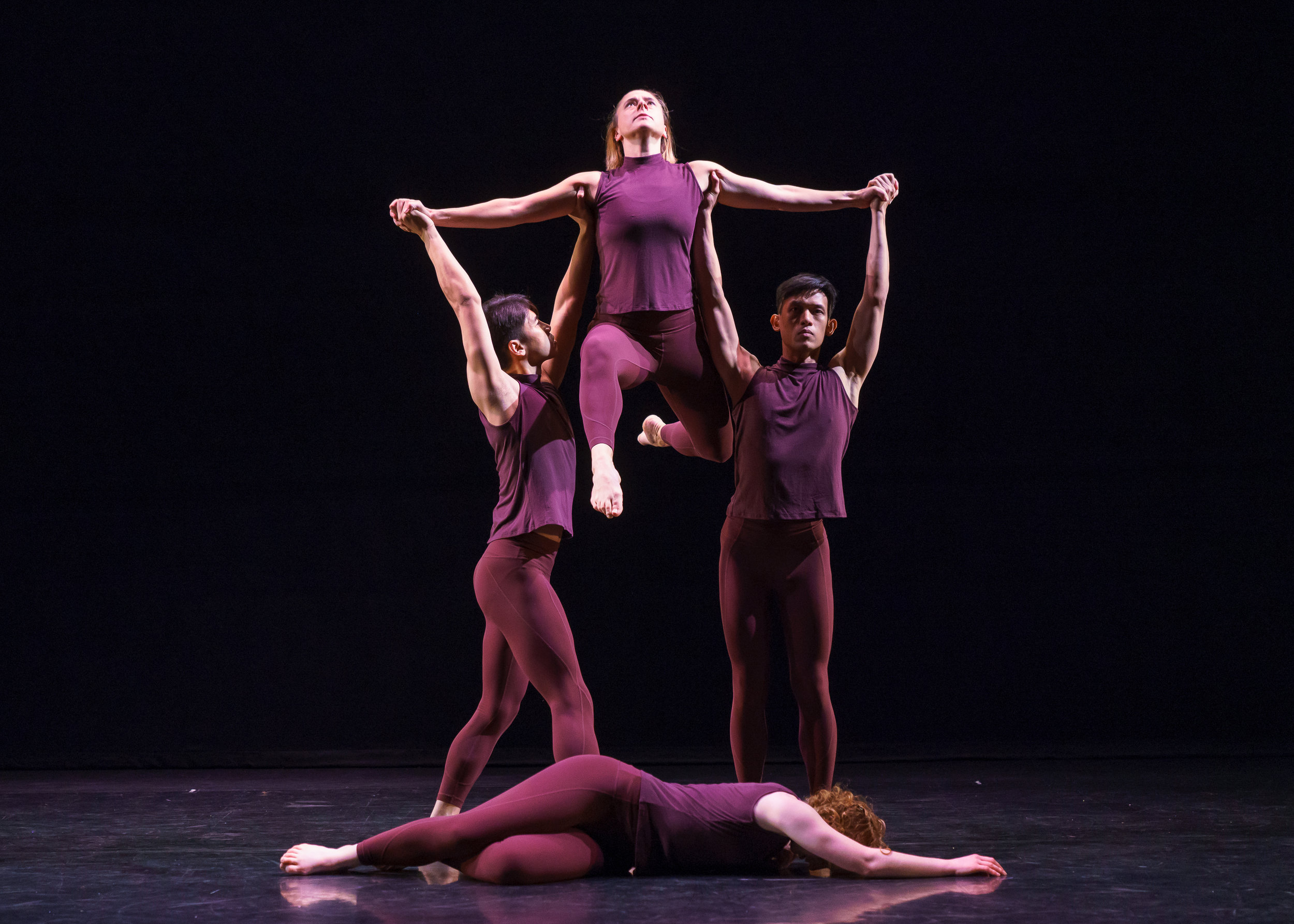 Erin performing with Sokolow Theatre Dance Ensemble in 2018. Photo by Steven Pisano