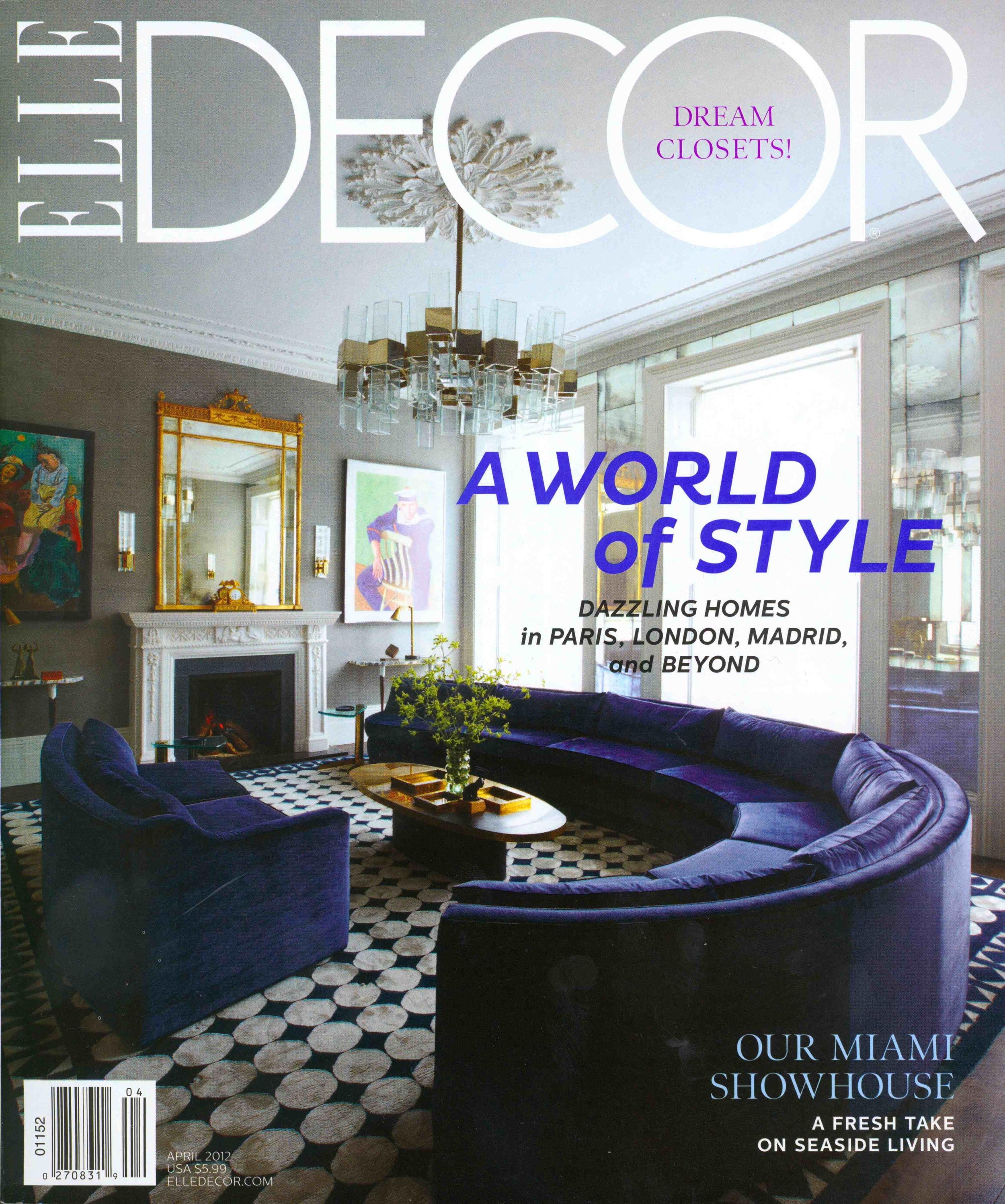 Elle Decor April 2012