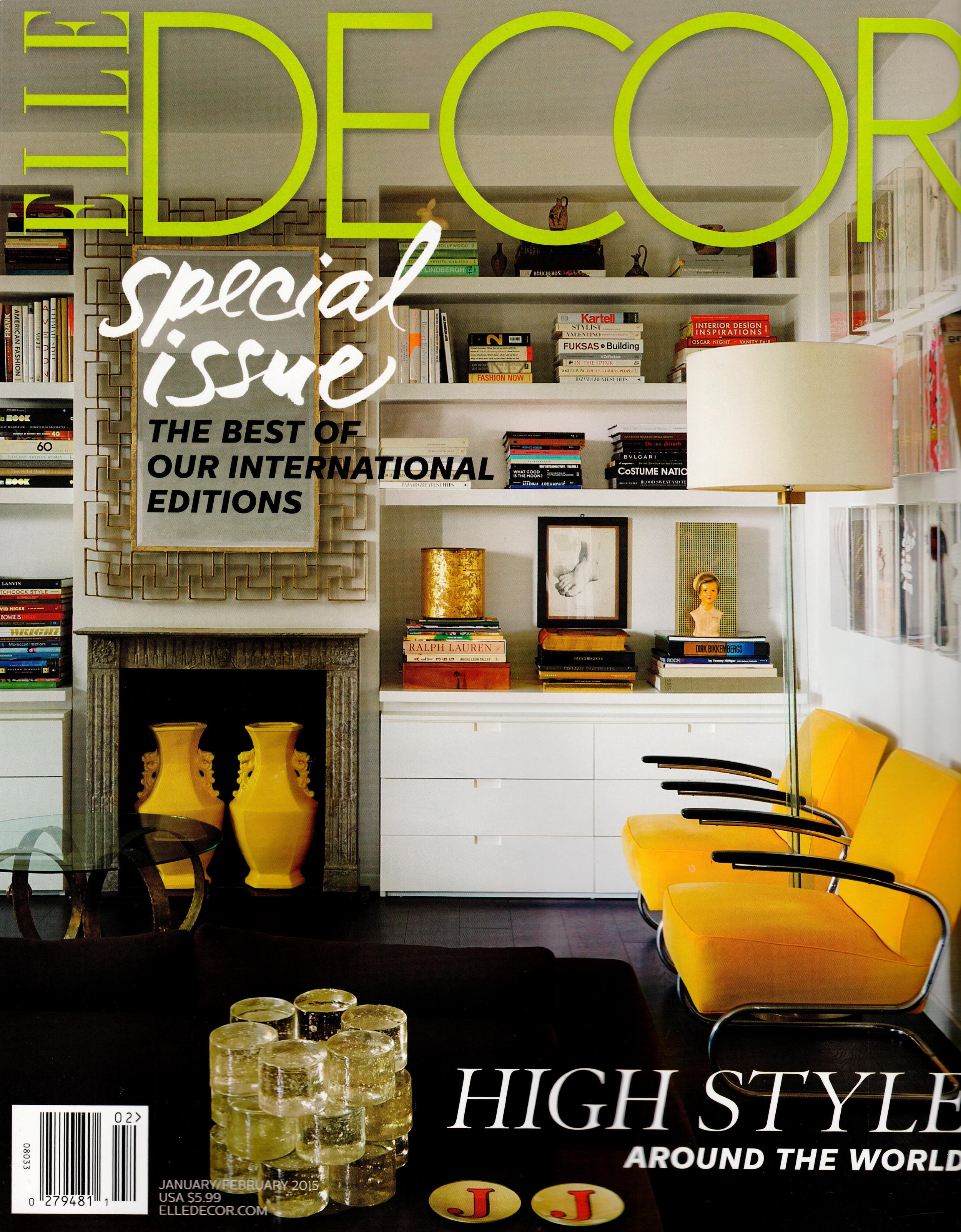 Elle Decor January/February 2015