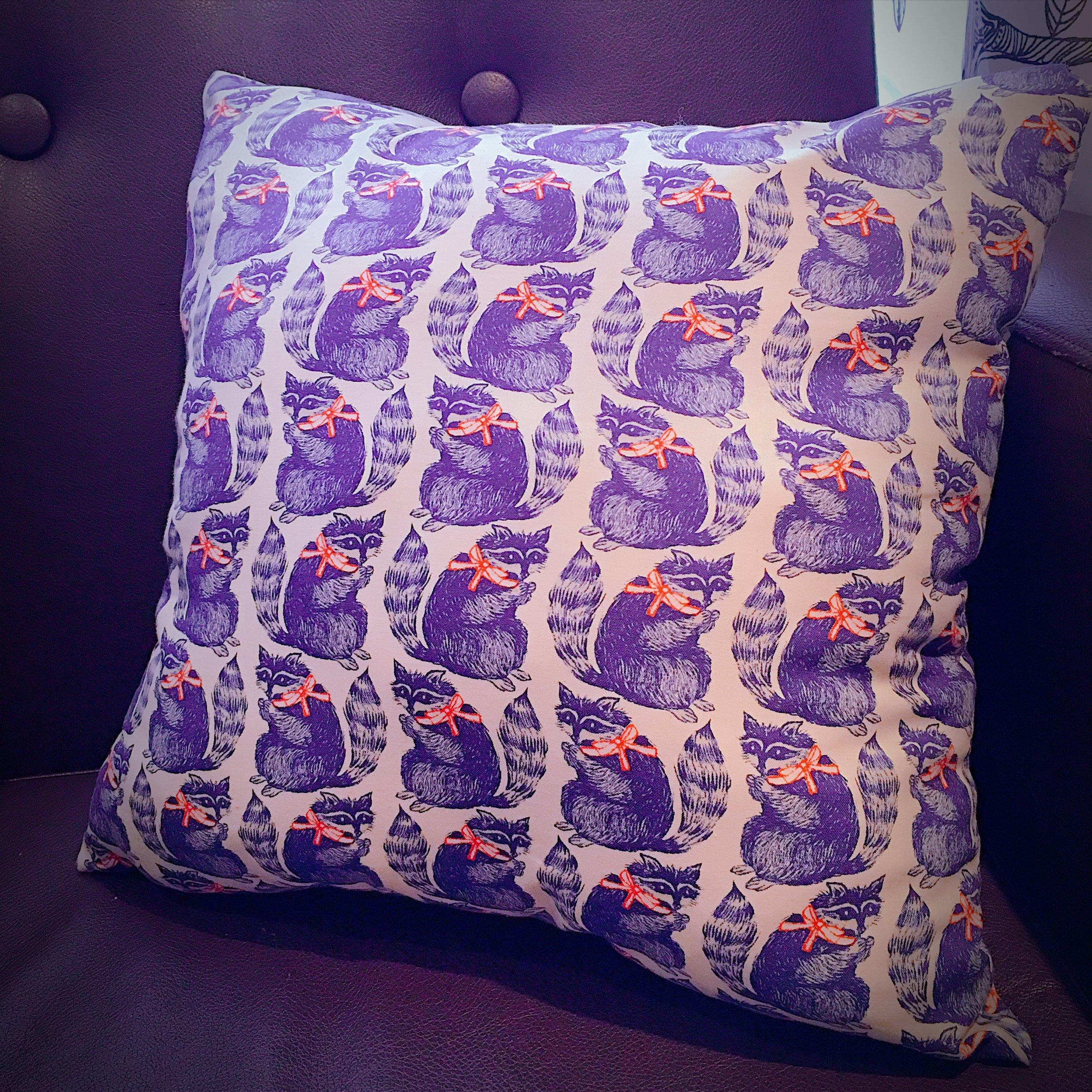Raccoon pillowcase