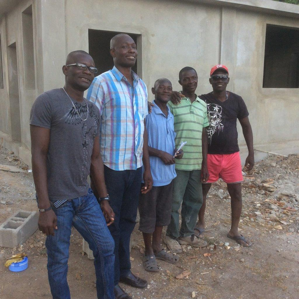 Joseph, Herode, Ama, Joslin, and Verdieu - our full-time staff members after another long day at the site