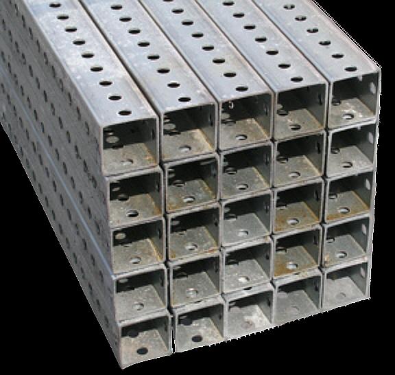 Sign posts - perforated telspar