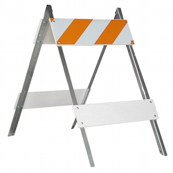 Barricades, cones, delineators