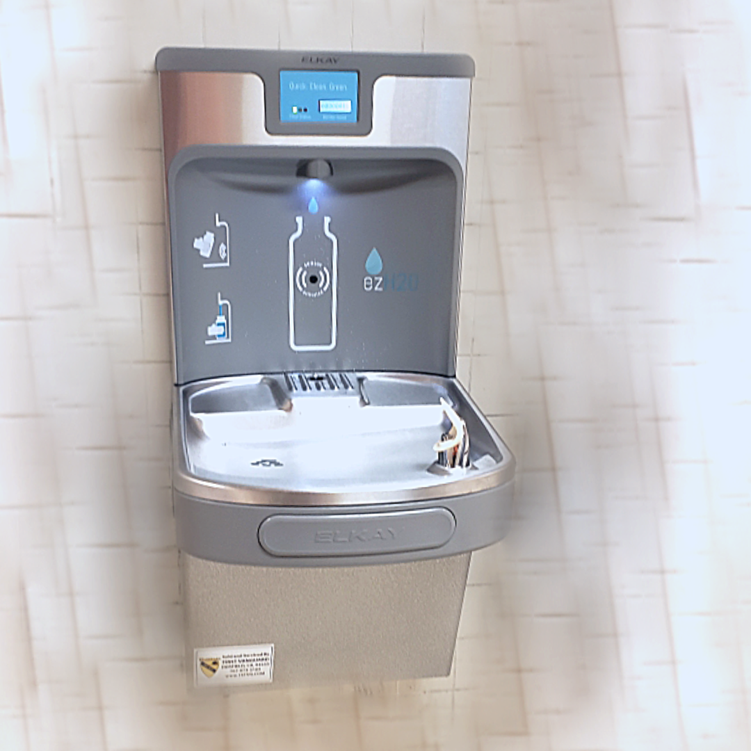 water fountain with water bottle fill